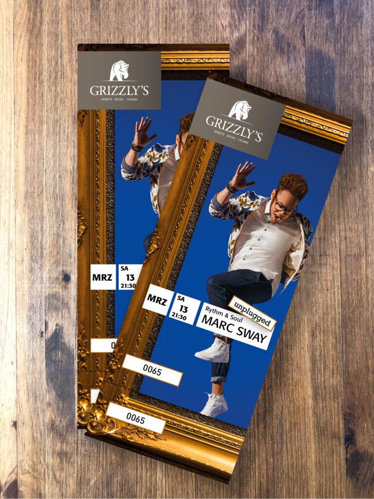 Tickets fürs Marc Sway Konzert in der Grizzly's Bar im Hotel Piz Buin Klosters by uniik.com